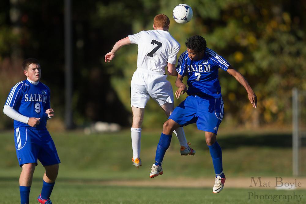 Pitman High School Boy's Soccer host Salem High School at Alcyon Park in Pitman, NJ on Tuesday October 16, 2012. (photo / Mat Boyle)