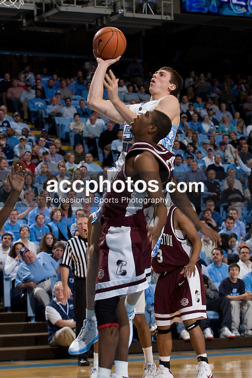 07 January 2009: North Carolina Tar Heels forward Tyler Hansbrough (50) during a 108-70 win over the College of Charleston Cougars at the Dean Smith Center in Chapel Hill, NC.