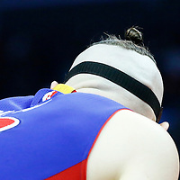 07 November 2016: Close view of Detroit Pistons forward Aron Baynes (12) haircut during the LA Clippers 114-82 victory over the Detroit Pistons, at the Staples Center, Los Angeles, California, USA.