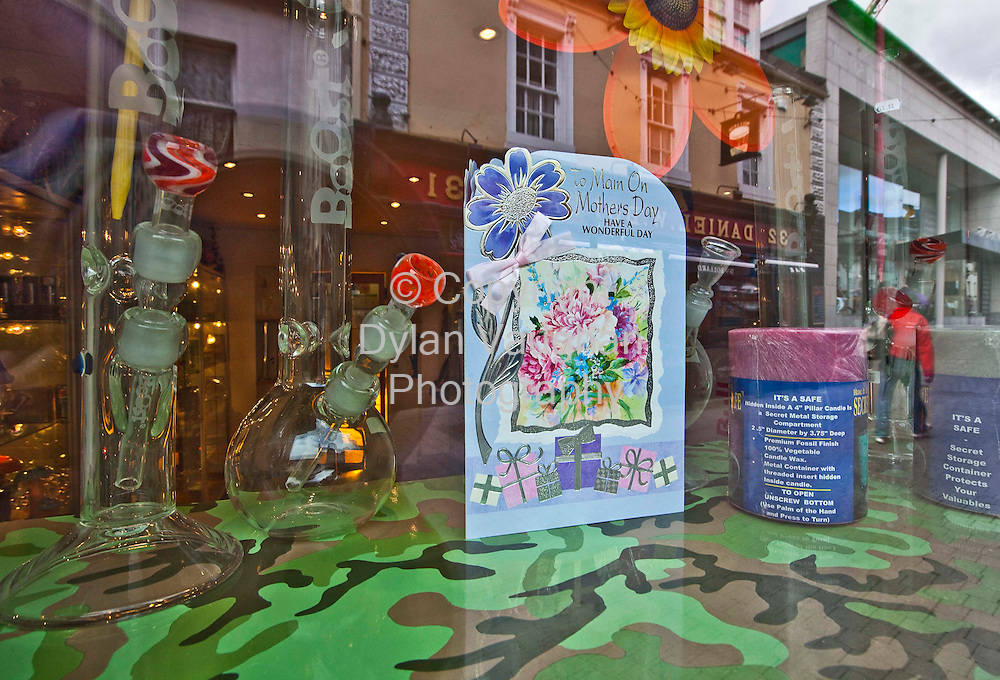12/3/2010.The Hemporium on Kieran Street in Kilkenny with the mothers day window display..Picture Dylan Vaughan
