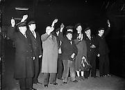 Last Train leaves Harcourt Station.31/12/1958<br /> HARCOURT TRAIN STATION,