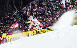"29.01.2019, Planai, Schladming, AUT, FIS Weltcup Ski Alpin, Slalom, Herren, 1. Lauf, im Bild Daniel Yule (SUI) // Daniel Yule of Switzerland in action during his 1st run of men's Slalom ""the Nightrace"" of FIS ski alpine world cup at the Planai in Schladming, Austria on 2019/01/29. EXPA Pictures © 2019, PhotoCredit: EXPA/ JFK"