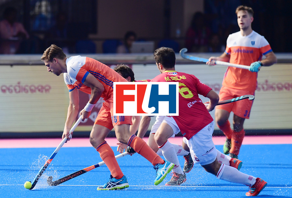 Odisha Men's Hockey World League Final Bhubaneswar 2017<br /> Match id:04<br /> Netherlands vs Spain<br /> Foto: Bjorn Kellerman (Ned) and Miguel Delas (Esp) <br /> WORLDSPORTPICS COPYRIGHT FRANK UIJLENBROEK