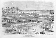 "From ""Souvenirs of Ceylon"" 1868 published by Ferguson. Colombo Railway Terminus."