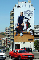 Fotball<br /> Euro 2004<br /> Portugal<br /> Foto: Dppi/Digitalsport<br /> NORWAY ONLY<br /> PORTUGAL PLAYER'S ADVERTISING DURING EURO 2004