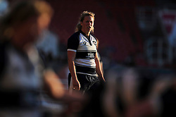 Amber Reed of Bristol Ladies watches a scrum - Photo mandatory by-line: Patrick Khachfe/JMP - Mobile: 07966 386802 06/09/2015 - SPORT - RUGBY UNION - Bristol - Ashton Gate - Bristol Ladies v Worcester Ladies - Women's Premiership Rugby