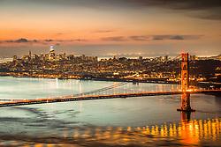 """Golden Gate Bridge Sunrise 11"" - Photograph of San Francisco and the famous Golden Gate Bridge at sunrise."