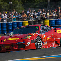 #82, Ferrari, F430 GTC, Risi Competizione, drivers:  Jaime Melo, Gianmaria Bruni, Pierre Kaffer, at Le Mans 24 Hours, 2010