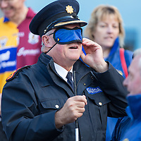 Chief Supt of the Clare Garda Division John Kerins  getting ready to walk in the Walk a mile for blind