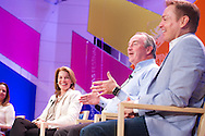 "Karen Dahut of Booz Allen Hamilton moderates the ""How Can US Companies Create and Maintain an Innovative Culture?"" panel at the 2014 Aspen Ideas Festival in Aspen, CO. ©Brett Wilhelm"