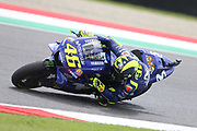 #46 Valentino Rossi, Italian: Movistar Yamaha MotoGP during Friday Practice at the MotoGP Gran Premio d'Italia Oakley at Autodromo del Mugello Circuit, Senni-San Carlo, Italy on 1 June 2018. Picture by Graham Holt.