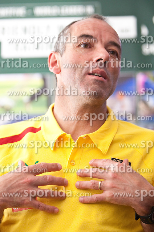 22.05.2010, Grandhotel, Lienz, AUT, FIFA Worldcup Vorbereitung, Pressekonferenz Kamerun im Bild Paul Le Guen, Trainer, Nationalteam Kamerun, FRA, EXPA Pictures © 2010, PhotoCredit: EXPA/ J. Feichter / SPORTIDA PHOTO AGENCY