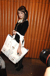 PEACHES GELDOF at a party hosted by Mulberry to celebrate the publication of The Meaning of Sunglasses by Hadley Freeman held at Mulberry 41-42 New Bond Street, London on 14th February 2008.<br />