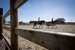 Gust Lenaerts, Ils Lenaerts, Tom Stoffelen <br /> Stal 't Eikenhof - Pulderbos 2016<br /> © Hippo Foto - Dirk Caremans<br /> 23/08/16