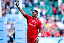 Will Skelton of Saracens celebrates after winning in the Premiership Rugby Final against Exeter Chiefs - Mandatory by-line: Robbie Stephenson/JMP - 01/06/2019 - RUGBY - Twickenham Stadium - London, England - Exeter Chiefs v Saracens - Gallagher Premiership Rugby Final