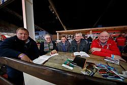 De Roeck Patrick, Rijcken Carl, Van de Vijver Roger, Schepers Boudewijn, Bruynen Frans<br /> Hengstenkeuring BWP - Lier 2018<br /> © Hippo Foto - Dirk Caremans<br /> 18/01/2018