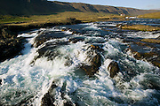 Rushing mountain stream in Iceland.