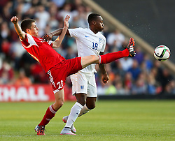 Saido Berahino of England in action - Photo mandatory by-line: Matt McNulty/JMP - Mobile: 07966 386802 - 11/06/2015 - SPORT - Football - Barnsley - Oakwell Stadium - England U21 v Belarus U21 - International Friendly U21s