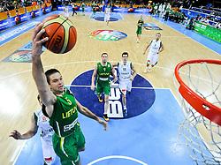Mantas Kalnietis of Lithuania during basketball game between National basketball teams of Slovenia and Lithuania at of FIBA Europe Eurobasket Lithuania 2011, on September 15, 2011, in Arena Zalgirio, Kaunas, Lithuania. Lithuania defeated Slovenia 80-77.  (Photo by Vid Ponikvar / Sportida)