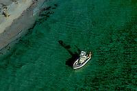 Aerial photograph of pleasure boats off Gasparilla Island and Boca Grand Florida