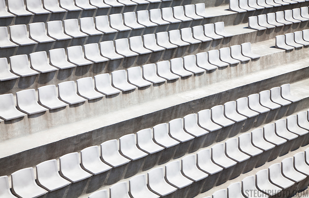 Empty seats at a sporting stadium