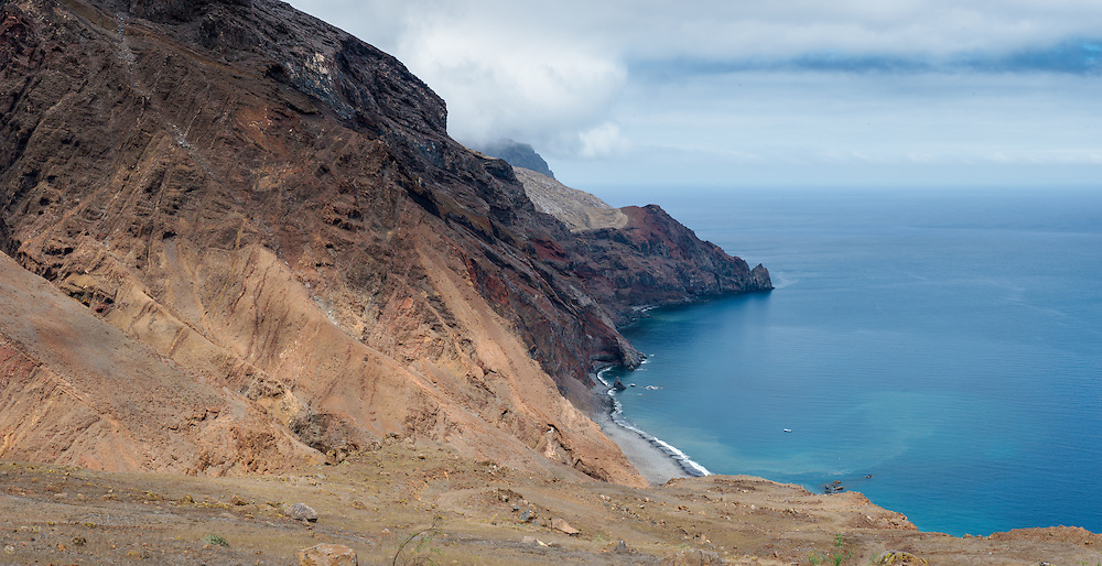 Volcanic landscapes of Guadalupe Island.<br /> Pacific Ocean, Mexico.<br /> Panoramic stitch of 4 images