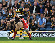 Wycombe, GREAT BRITAIN,  Wasps, Dominic WALDOUCK, during the Guinness Premiership match,  London Wasps vs Worcester Warriors at Adam's Park Stadium, Bucks on Sun 14.09.2008. [Photo, Peter Spurrier/Intersport-images]