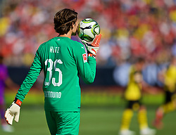 CHARLOTTE, USA - Sunday, July 22, 2018: Borussia Dortmund's goalkeeper Marwin Hitz during a preseason International Champions Cup match between Borussia Dortmund and Liverpool FC at the  Bank of America Stadium. (Pic by David Rawcliffe/Propaganda)