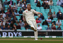 September 11, 2018 - London, England, United Kingdom - England's Ben Stokes kicks out.during International Specsavers Test Series 5th Test match Day Five  between England and India at Kia Oval  Ground, London, England on 11 Sept 2018. (Credit Image: © Action Foto Sport/NurPhoto/ZUMA Press)