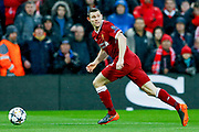 Liverpool midfielder James Milner (7) in action  during the Champions League semi final leg 1 of 2 match between Liverpool and Roma at Anfield, Liverpool, England on 24 April 2018. Picture by Simon Davies.