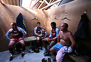 The Woolpack Wanderers face defeat at half time as they play the Garrison Gunners in a Charity Shield match on the island of St. Marys in the Isles of Scilly Sunday Nov. 11, 2007 Picture by Christopher Pledger