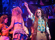 Rock of Ages<br /> by Chris D'Arienzo<br /> directed by Kristin Hanggi<br /> Choreography by Kelly Devine<br /> Press photocall<br /> 14th September 2011 <br /> at The Shaftesbury Theatre, London, Great Britain <br /> <br /> Justin Lee Collins (as Denis Dupree)<br /> <br /> Photograph by Elliott Franks