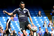Leicester City Midfielder Riyad Mahrez (26) warms up during the Barclays Premier League match between Chelsea and Leicester City at Stamford Bridge, London, England on 15 May 2016. Photo by Jon Bromley.