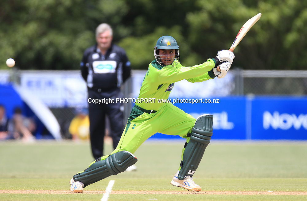 Pakistan's Abdul Razzaq batting during his innings of 16. Twenty20 Cricket, Auckland Aces v Pakistan, Colin Maiden Park, Auckland. Thursday 23 December 2010.Photo: Andrew Cornaga/photosport.co.nz