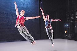 © Licensed to London News Pictures. 09/06/2015. London, UK. Alston At Home: a performance by the Richard Alston Dance Company to celebrate their 20th year. In the Robin Howard Dance Theatre, at The Place, London<br /> Pictures feature the Premiere of Mazur by Richard Alston –  a duet for award winning former company dancer Jonathan Goddard and Liam Riddick, accompanied by pianist Jason Ridgway.. Photo credit : Tony Nandi/LNP