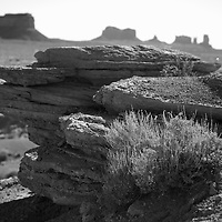 A close up of the geology of Monument Valley reveals how fragile yet majestic many of these rock formations are.