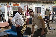 Rome (Italy), 24/06/2011: &quot;Snia in Jazz&quot; rassegna jazz al Csoa Ex Snia, la seconda serata di apertura &egrave; affidata a &quot;Paolo Cerrone Quartet&quot; con Paolo Cerrone al sax tenore, Domenico Sanna al piano e Claudio Bellotto alla batteria.<br /> &copy;Andrea Sabbadini