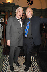 Left to right, BARRY CRYER and CLIVE JAMES at the 2008 Oldie of The year Awards and lunch held at Simpsons in The Strand, London on 11th March 2008.<br />