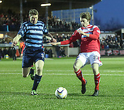 Forfar's Darren Dodds and Brechin's Craig Wighton - Forfar Athletic v Brechin City - SPFL League One at Station Park<br /> <br />  - &copy; David Young - www.davidyoungphoto.co.uk - email: davidyoungphoto@gmail.com
