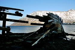 NORWAY LOFOTEN 28MAR07 - Shipwreck in Morfjorden on the Lofoten islands...jre/Photo by Jiri Rezac..© Jiri Rezac 2007..Contact: +44 (0) 7050 110 417.Mobile:  +44 (0) 7801 337 683.Office:  +44 (0) 20 8968 9635..Email:   jiri@jirirezac.com.Web:    www.jirirezac.com..© All images Jiri Rezac 2007 - All rights reserved.