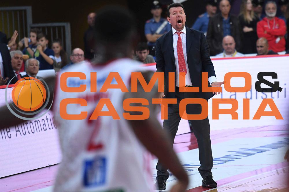 Spiro Leka<br /> VL Pesaro - Germani Leonessa Basket Brescia<br /> Lega Basket Serie A 2017/2018<br /> Pesaro, 01/10/2017<br /> Foto M.Ceretti / Ciamillo - Castoria