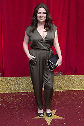 © Licensed to London News Pictures . 16/05/2015 .  The Palace Hotel , Manchester , UK . DEBBIE RUSH . The red carpet at the 2015 British Soap Awards , The Palace Hotel , Oxford Road , Manchester . Photo credit : Joel Goodman/LNP