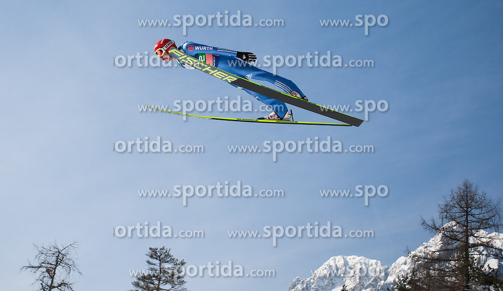 23.03.2013, Planica, Kranjska Gora, SLO, FIS Ski Sprung Weltcup, Skifliegen, Team, Probedurchgang, im Bild Richard Freitag (GER) // Richard Freitag of Germany during his trial jump of the FIS Skijumping Worldcup Team Flying Hill, Planica, Kranjska Gora, Slovenia on 2013/03/23. EXPA Pictures © 2012, PhotoCredit: EXPA/ Juergen Feichter