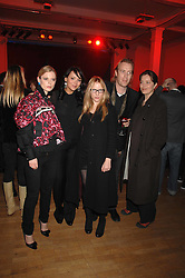 Left to right, actress EMILIA FOX, actress MARTINE McCUTCHEON, actress NATALIE PRESS, actor RHYS IFANS and actress GRETA SCACCHI at the Art Plus Drama party Held at the Whitechapel Art Gallery, London E1 on 8th March 2007. <br />