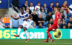 Yeni Atito Ngbakoto of Queens Park Rangers crisis the ball - Mandatory by-line: Robbie Stephenson/JMP - 10/08/2016 - FOOTBALL - Loftus Road - London, England - Queens Park Rangers v Swindon Town - EFL League Cup