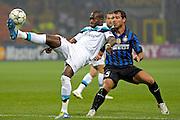© Filippo Alfero<br /> Inter vs Lille - Champions League 2011 / 2012<br /> Milano, 02/11/2011<br /> sport calcio<br /> Nella foto: Dejan Stankovic e Moussa Sow