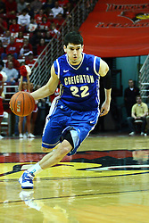 13 January 2012:  Avery Dingman during an NCAA Missouri Valley Conference mens basketball game where the Creighton Bluejays topped the Illinois State Redbirds 87-78 in Redbird Arena, Normal IL