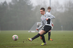 CARDIFF, WALES - Thursday, March 15, 2012: Wales U16's Shane Parry (Cardiff City FC & Afon Taf) during a training session at the Glamorgan Sports Park. (Pic by David Rawcliffe/Propaganda)