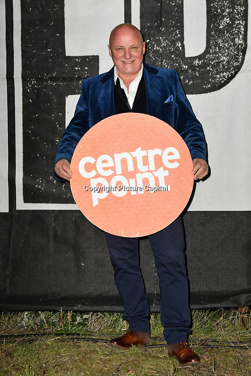 Aldo Zilli join Sleep Out fundraiser to help homeless young people at Greenwich Peninsula Quay on 15 November 2018, London, UK.