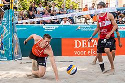 17-07-2018 NED: CEV DELA Beach Volleyball European Championship day 3<br /> Christiaan Varenhorst #1 NED (foto) en Jasper Bouter #2 NED winnen ook hun tweede wedstrijd.